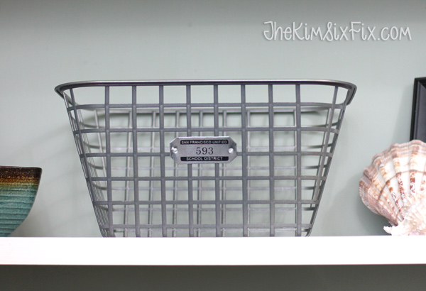 Faux wire basket