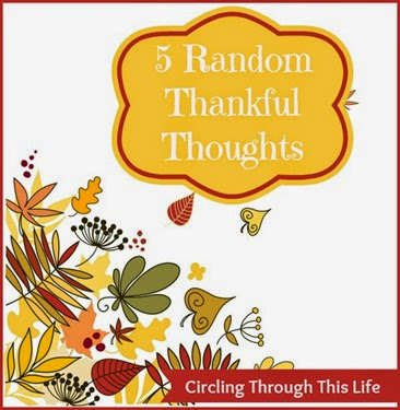 Five Random Thankful Thoughts ~ November 21st  Edition