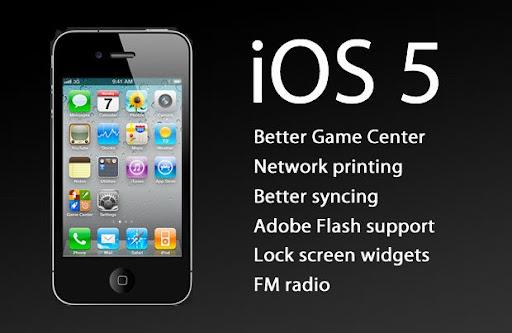 actualización de iOS 5