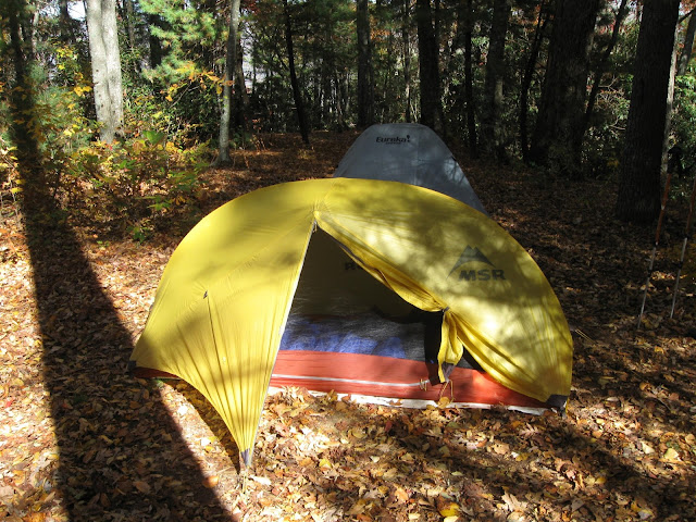 Hubba Solo tent at Look Off Mountain