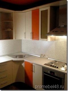 фото кухни с гнутыми фасадами