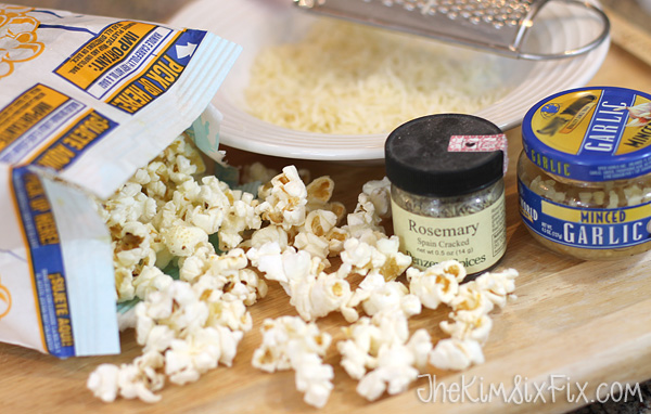 Rosemary garlic cheese popcorn