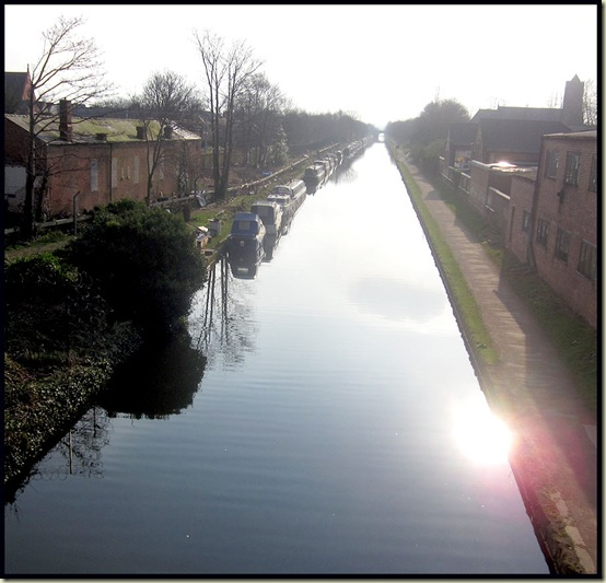 The view from Sale Bridge on a sunny winter afternoon