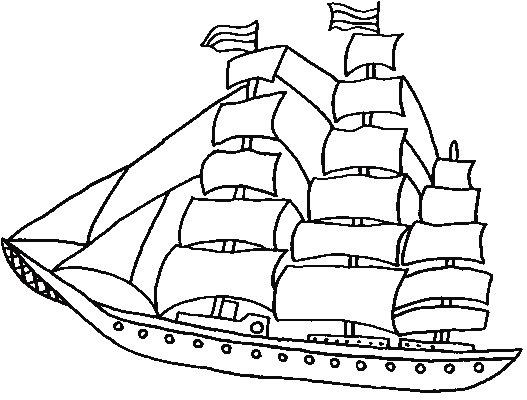 Dibujos Para Colorear Barcos De Vela