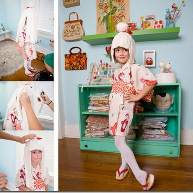 Original disfraz para niña Kokeshi  muñeca japonesa