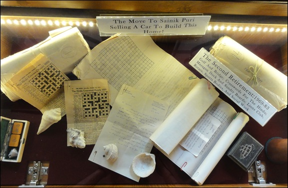 Crossword memorabilia on display at Katari Heritage Hall