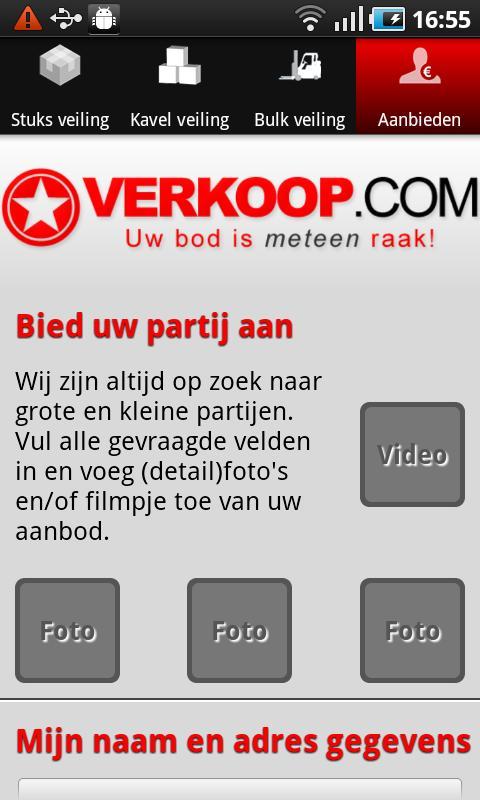 Verkoop.com- screenshot