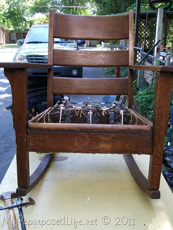 rocking chair & how to repair broken furniture - My Repurposed Life®