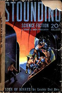 Cover of August 1939 British edition of Astounding Science-Fiction magazine