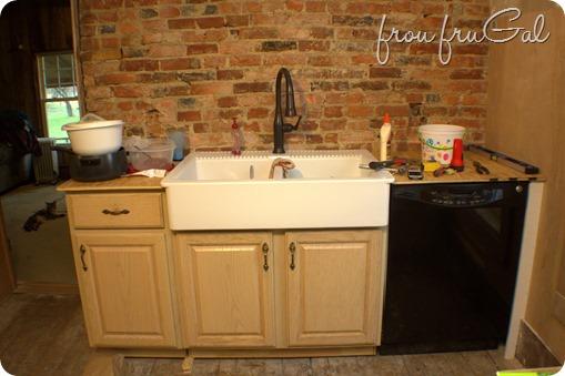 Best Kitchen Renovation - Progress - Sink Wall - frou•fru•gal: [froo  ON84