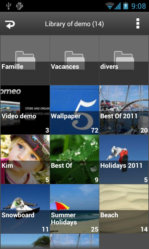 Joomeo - photos sharing - screenshot