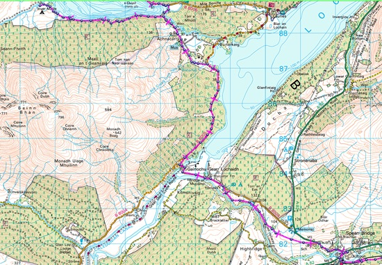 TGO CHALLENGE 2012- DAY 4 MAP
