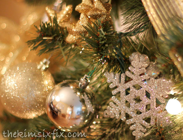 Gold and silver snowflake