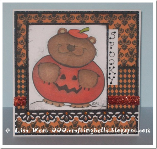 Pumpkin Bear Halloween Card (2)