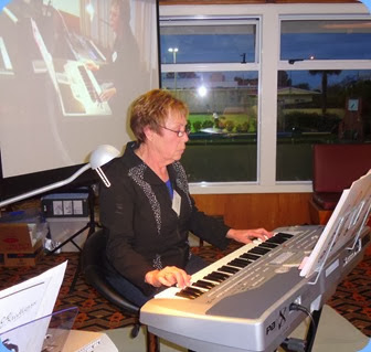 Yvonne Moller playing her Korg Pa1X. Photo courtesy of Dennis Lyons.