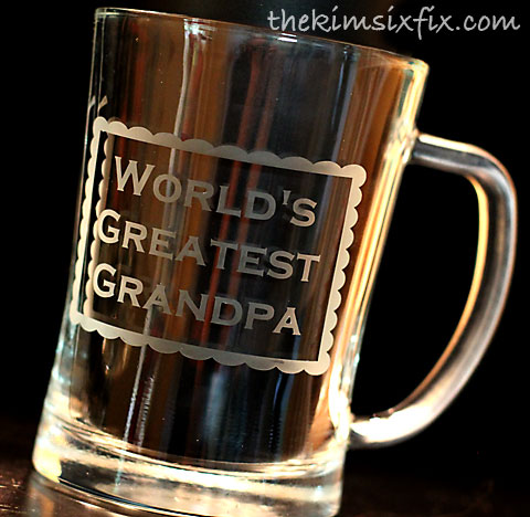 Worlds greatest grandpa beer mug