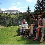 Blogoma, Tamy, Lutz und Konni auf der Aelggialp