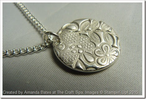 Something Lacy, Silver Clay Pendant, Amanda Bates, The Craft Spa 009