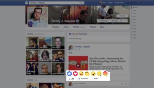 Facebook thử nghiệm nút like mới Reactions với nhiều biểu tượng