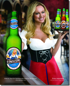 st. pauli girl beer wench