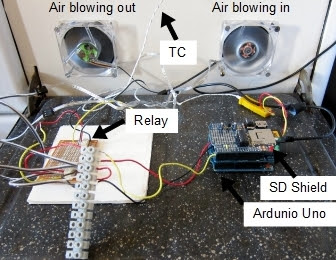 Photograph of Arduino based air exchange system