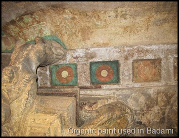 Organic paint used in Badami