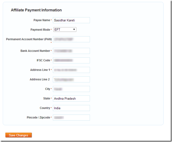 affiliate payment info
