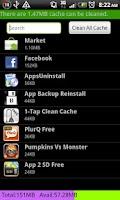 Screenshot of 1-Tap Clean Cache Pro
