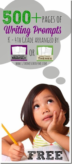 500+ pages of free writing prompts for K-4th Grade #writingprompts #homeschooling