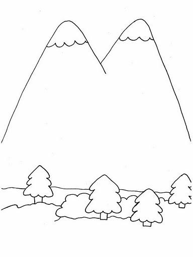 Dibujos Para Colorear Montañas