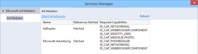 Fetched networks in AdMediator Service Manager (www.kunal-chowdhury.com)