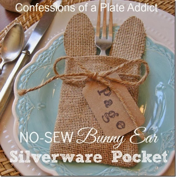 CONFESSIONS OF A PLATE ADDICT No-Sew Bunny Ear  Silverware Pocket
