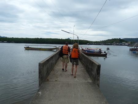 Imagini Thailanda: imbarcare Phang Nga