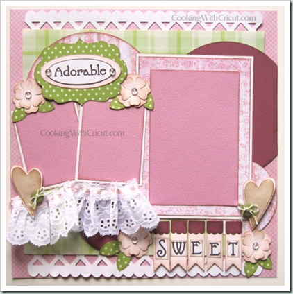 Cricut adorable layout-500