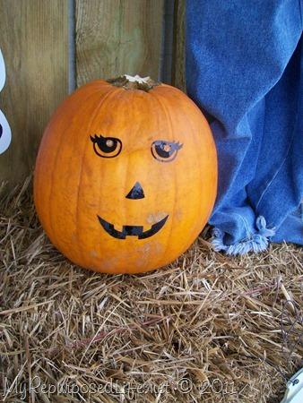 funny no mess jack-o-lantern face