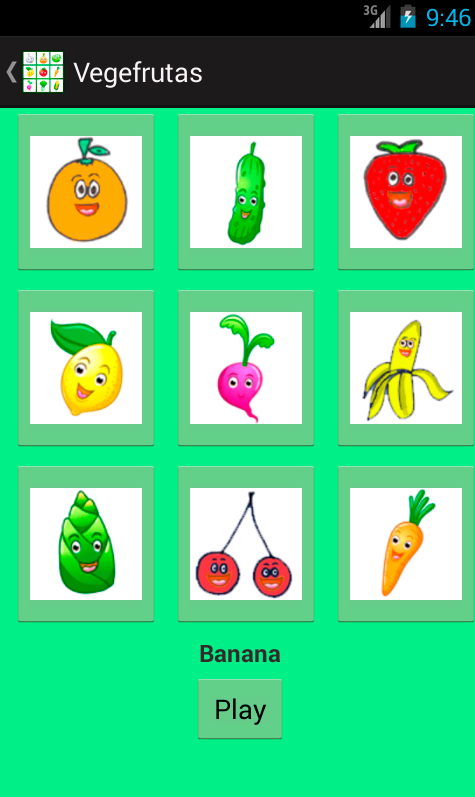 Vegetables and fruits- screenshot