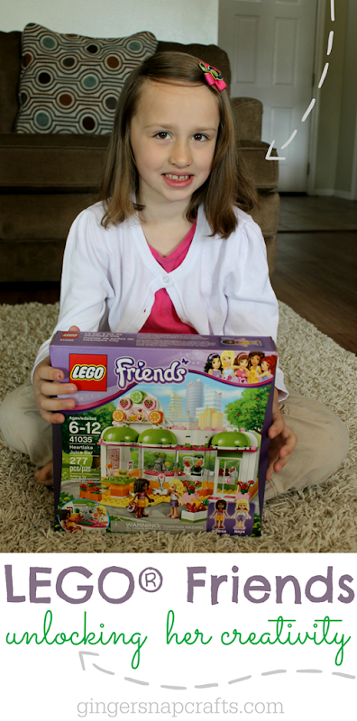 LEGO® Friends Unlocking Her Creativity at GingerSnapCrafts.com #LEGOFriendsCGC #spon