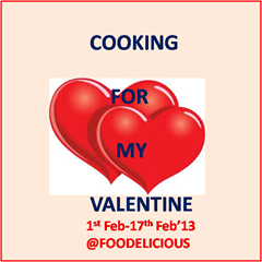Cooking for my valentine