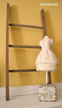 diy ladder from spindles