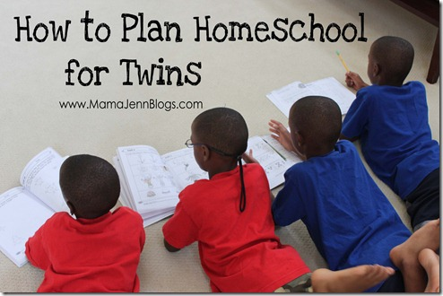 How to Plan Homeschool for Twins