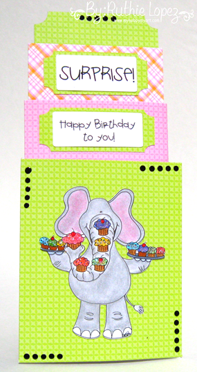 Paper Pretties - Crazy for Cupcakes - Tarjeta de 3 niveles - My Hobby My Art - Ruthie Lopez