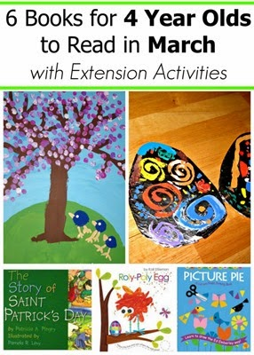 March Book Picks for 4 Year Olds With Extension Activities