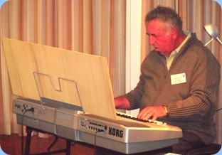 Ken Mahy playing his Korg Pa1X