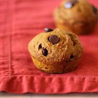 Vegan Pumpkin Muffins with Chocolate Chips.