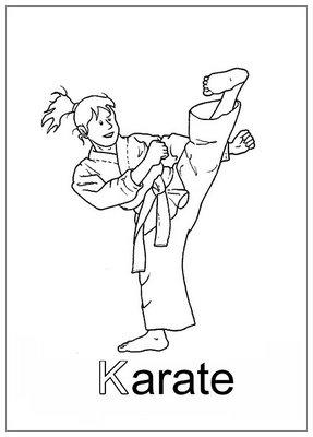 Dibujos Para Colorear Karatekas