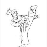 Karate Dibujos Para Colorear