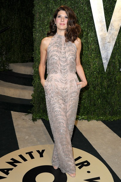 Marisa Tomei arrives at the 2013 Vanity Fair Oscar Party