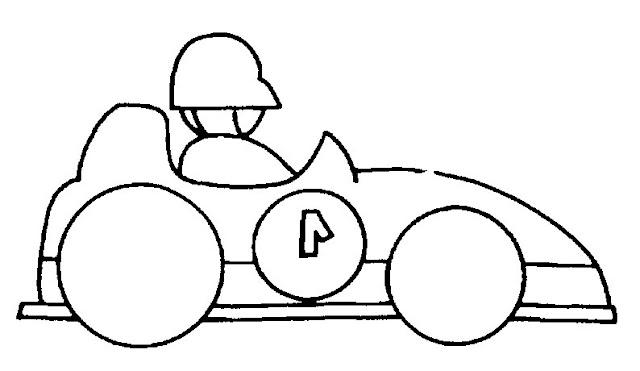 Dibujos De Coches De Carrera Para Colorear
