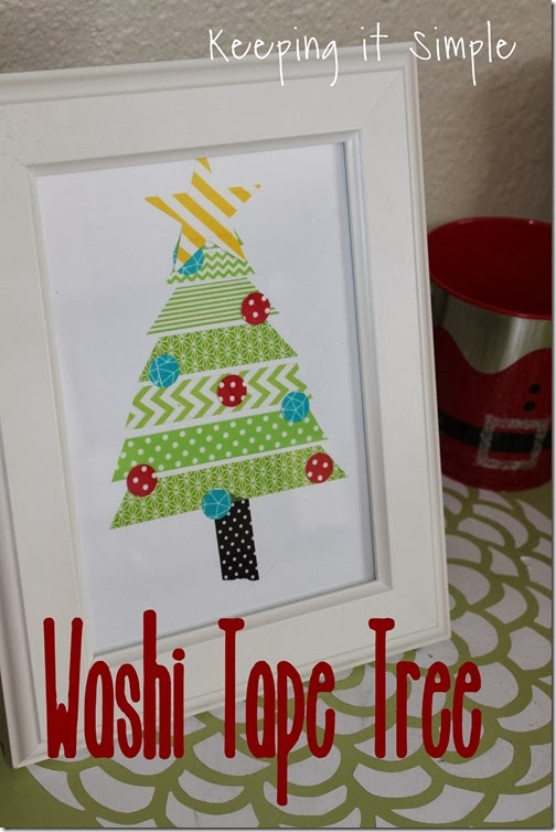 washi tape tree