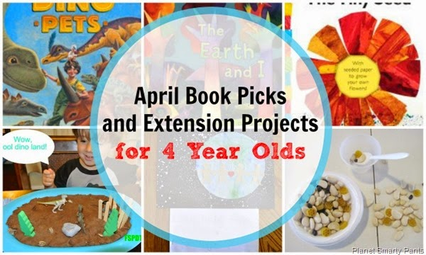 April Book Picks and Extension Projects for 4 year olds